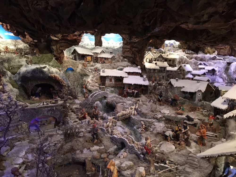Una parte del Presepe sotto la neve di Ciriè