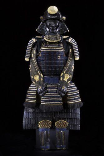 Una tipica armatura in ferro di un Samurai