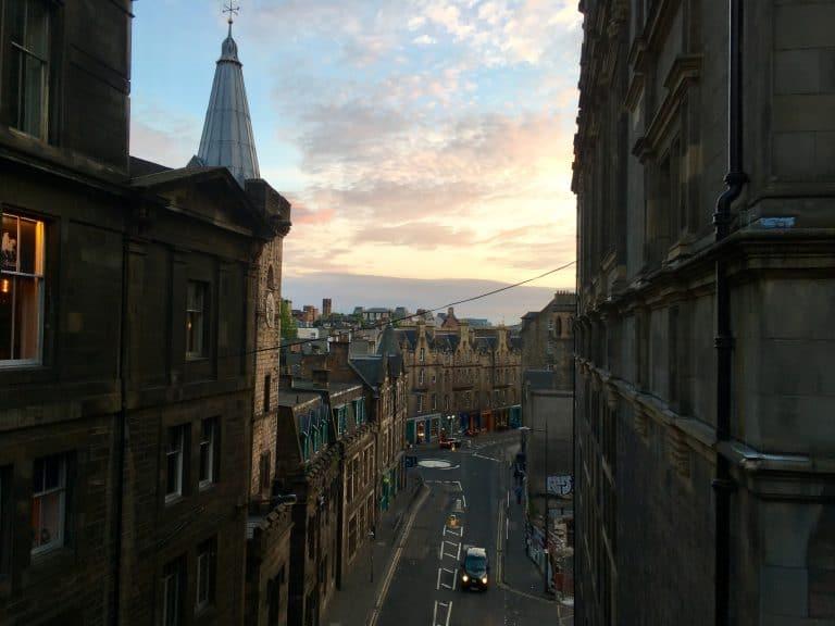 Vista della città di Edimburgo