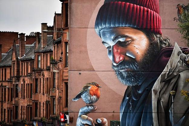 Uno dei murales più belli di tutta Glasgow