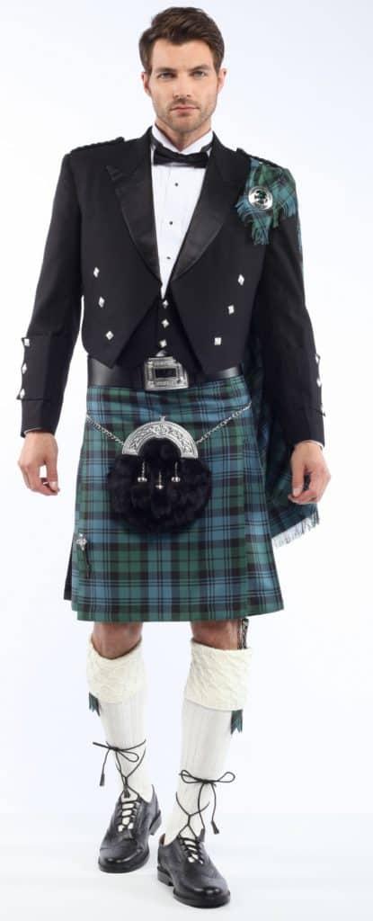 Abbigliamento completo di un kilt