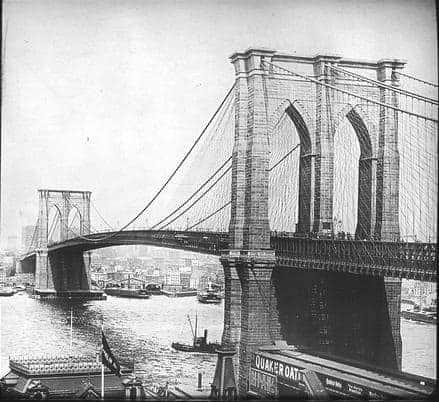 Ponte di Brooklyn: Foto storica
