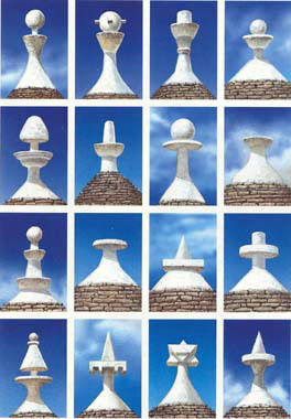 Pinnacoli dei trulli tipologie